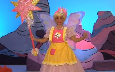 The Tooth Fairy, as depicted on Yo Gabba Gabba.  Terrifying children since '08.